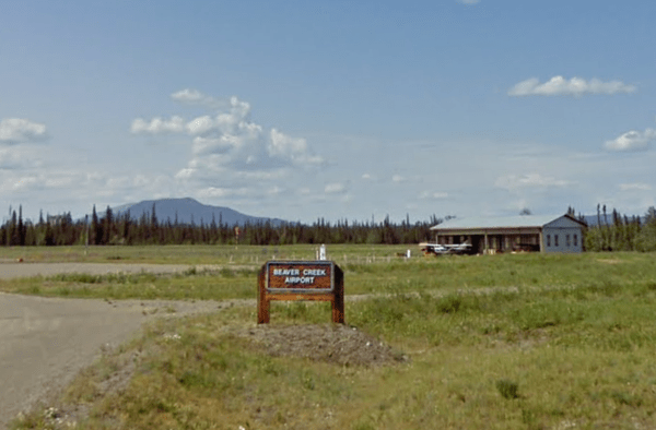 An airport in Beaver Creek, in the Yukon Territory, where a couple from Vancouver is accused of violating coronavirus restrictions to get vaccinated.