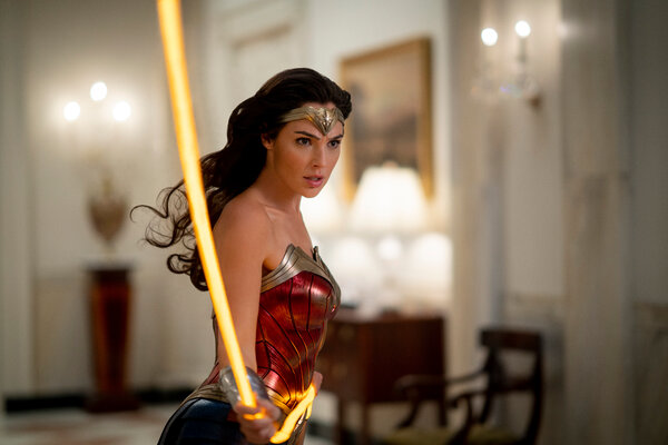 """Gal Gadot in a scene from """"Wonder Woman 1984,"""" which was released on HBO Max at the same time it hit theaters."""