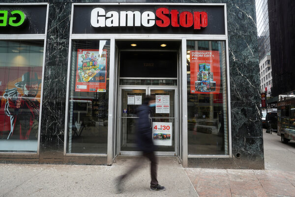 """The Securities and Exchange Commission said last week it was """"actively monitoring"""" the volatile trading around GameStock shares and other securities."""