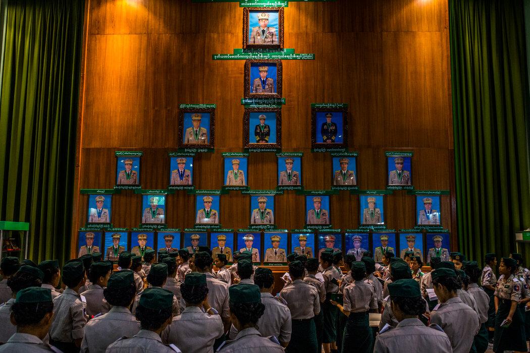 2018年,敏昂莱大将在内比都一家博物馆举行的军事领导人肖像展览中被授予最高荣誉。