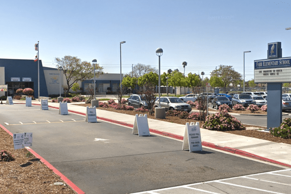 An elementary school in Escondido, Calif. The city school district is continuing with its reopening plan, despite an outbreak.