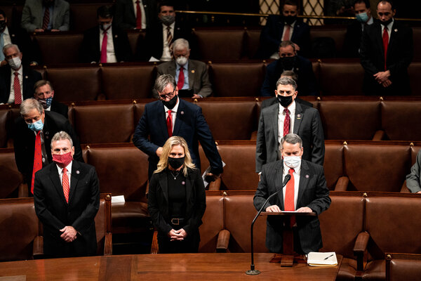 Lawmakers stood in objection to the vote certification on Wednesday during a joint session of Congress.
