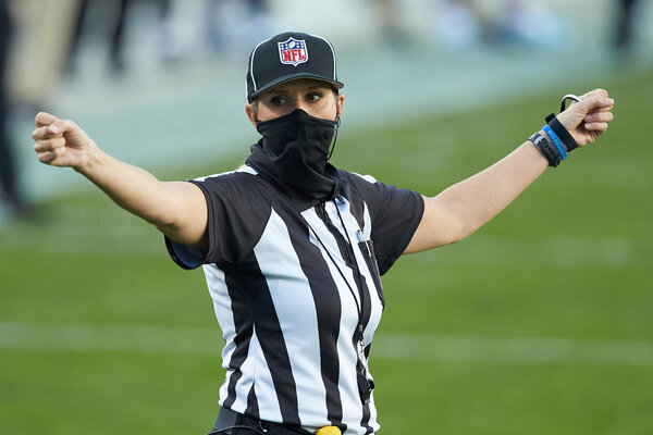 Sarah Thomas, a down judge, will be the first woman to officiate in a Super Bowl.