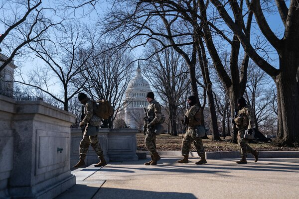 The second impeachment trial of former President Donald J. Trump begins in earnest on Tuesday in the Capitol, as National Guard soldiers continue to guard the area in the aftermath of the Jan. 6 attack on the building.