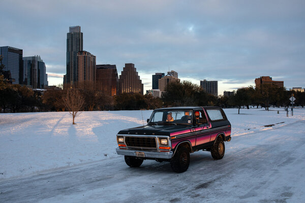 Austin was one of several cities in Texas that saw record-setting cold temperatures on Monday.