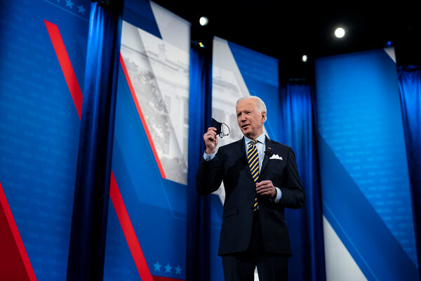 President Biden during a CNN town hall-style even in Milwaukee on Tuesday.