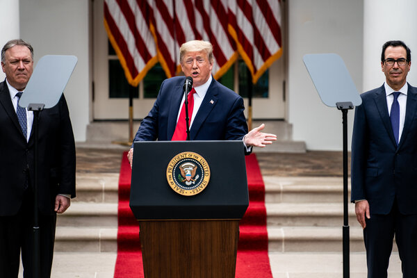 President Donald J. criticizing the Chinese government in May at the White House.  Mr. Trump's supporters credit him for satisfying China by adopting a more aggressive stance than his predecessors.