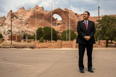 Jonathan Nez, the president of Navajo Nation, is hoping for federal support to improve access to water and electricity for Native Americans, among other infrastructure improvements.