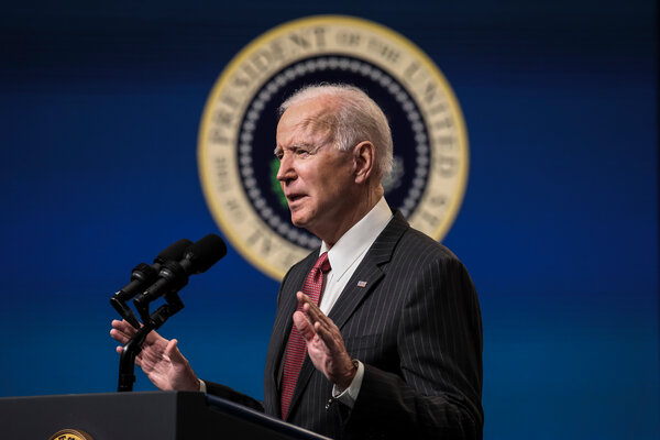 """After taking office, President Biden directed federal agencies to come up with """"a framework for donating surplus vaccines, once there is sufficient supply in the United States, to countries in need."""""""