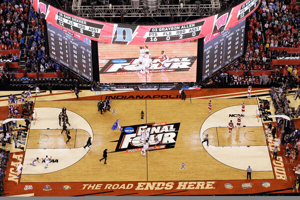 Lucas Oil Stadium in Indanapolis last hosted the final four of the 2015 men's NCAA tournament.