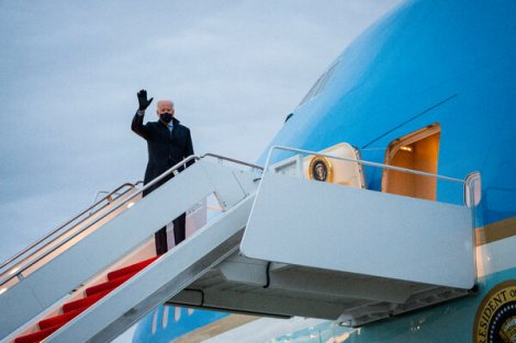 President Biden boarded Air Force One en route to Milwaukee on Tuesday. According to new polling data, Mr. Biden's stimulus plan has broad support among Americans.