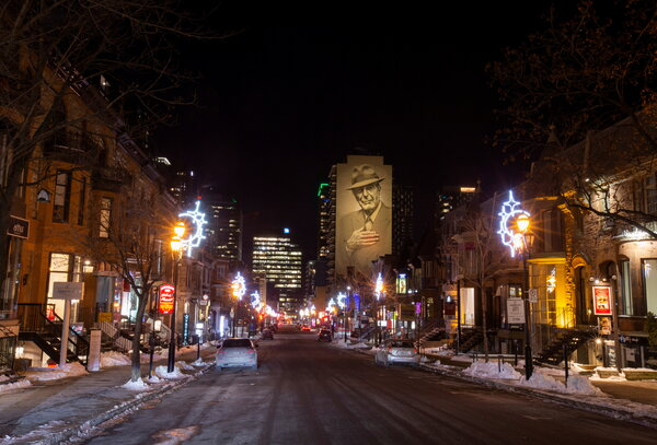 Crescent Street, known for its nightlife in Canada, was quiet last month on the first night after a curfew was imposed by the Quebec government to help slow the spread of the coronavirus.