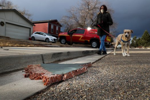Pieces of a Boeing 777 aircraft engine fell on a Colorado neighborhood Saturday. As an investigation continues, Boeing's shares fell in premarket trading.