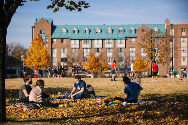 Students wearing masks on campus at Marquette University in November.More than 530,000 coronavirus cases have been linked to college campuses since the beginning of the pandemic