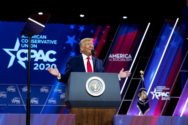 President Donald J. Trump last year at the Conservative Political Action Conference in National Harbor, Md.