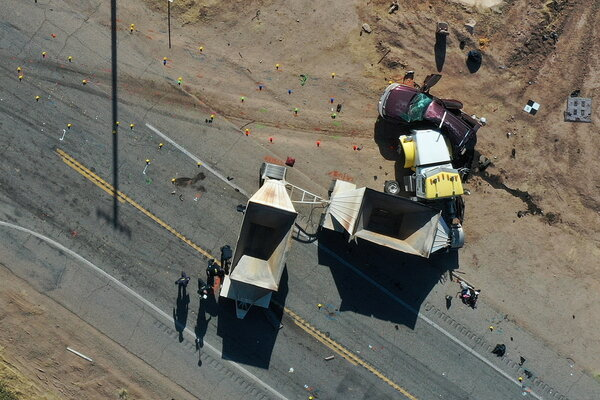 Thirteen people were killed this week in a traffic collision in a remote stretch of Southern California near the Mexican border.