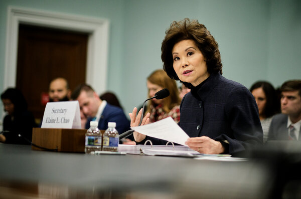 Elaine Chao announced her resignation as transportation secretary on Jan. 7, the day after the Capitol riot.
