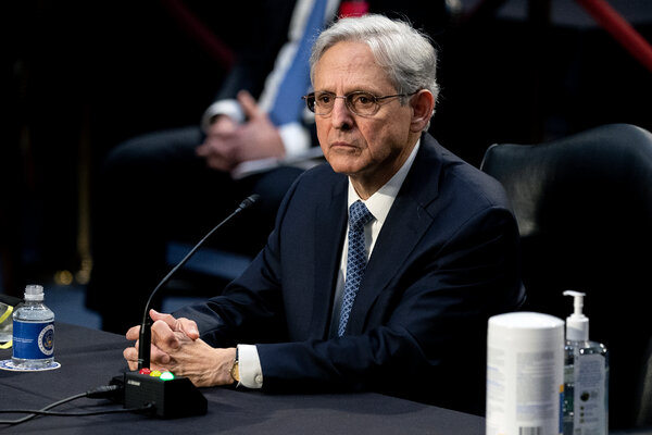 Judge Merrick B. Garland, President Biden's pick to be attorney general, during his confirmation hearing before the Senate Judiciary Committee.