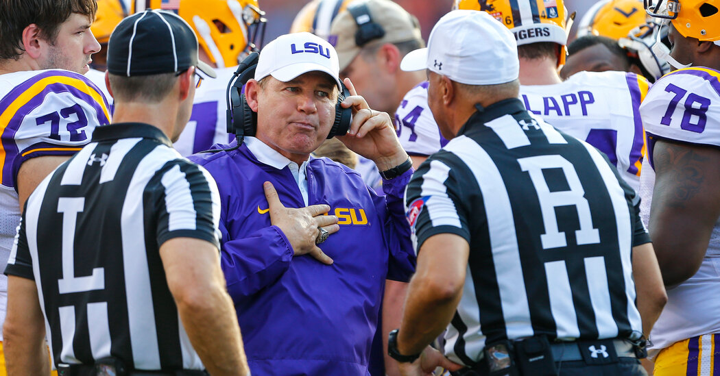 Les Miles Leaves Kansas Days After Harassment Accusations at L.S.U. Became Public