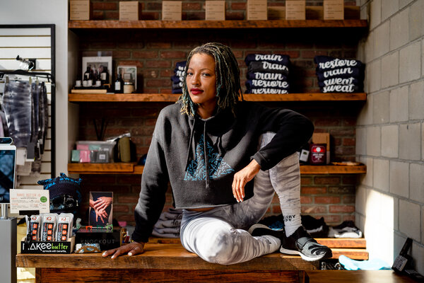"""We're not just competing with the gym down the street. Titans like Peloton and SoulCycle, they are true beneficiaries of this pandemic,"" said Amina Daniels, owner of a cycling and yoga studio."