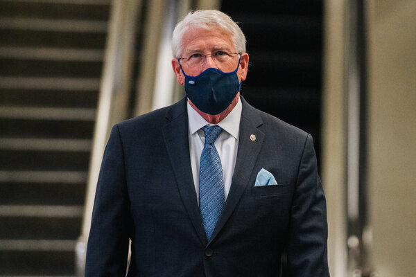 """Senator Roger Wicker, Republican of Mississippi, voted against the stimulus bill, yet tweeted approvingly about the """"targeted relief"""" for restaurants."""