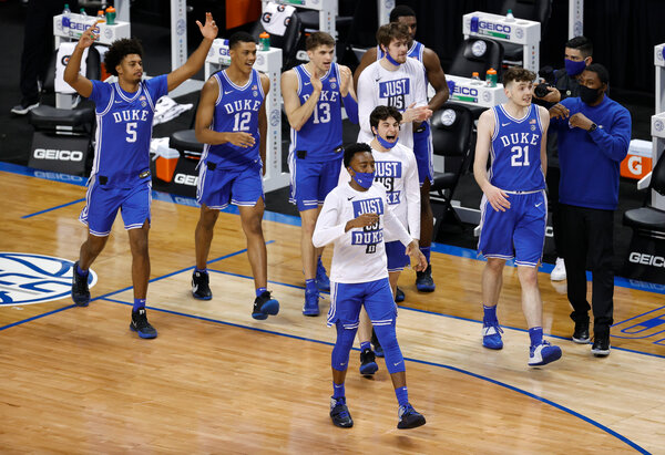 Duke withdrew from the Atlantic Coast Conference tournament after a positive coronavirus test.