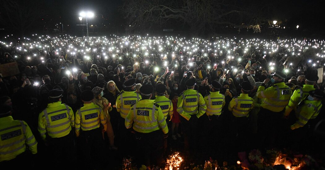 Sarah Everard Vigil Becomes Large Rally