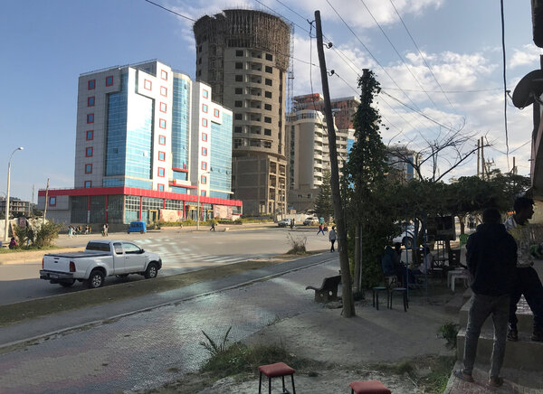 With its bustling streets and shops, Mekelle, Tigray's biggest city, has an air of relative calm.