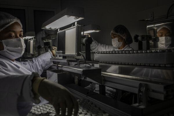 Doses of China's CoronaVac vaccine being prepared last month in São Paulo, Brazil.