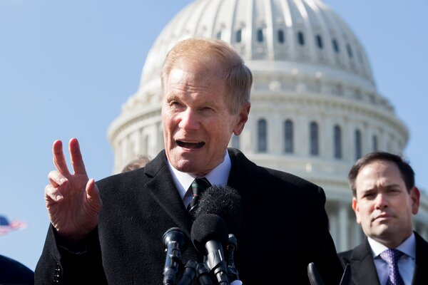 Bill Nelson in 2018, when he was a senator. He is also a former astronaut and flew on a space shuttle mission in 1986.
