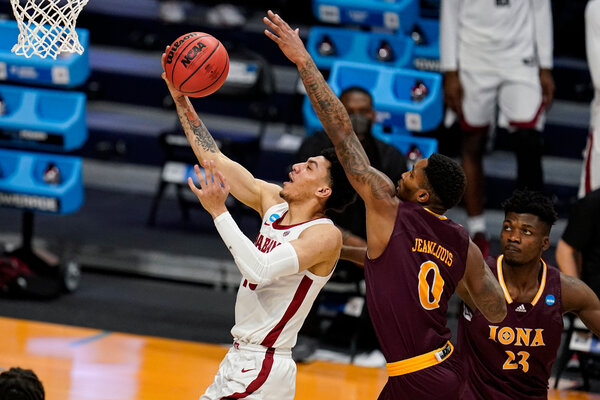 Alabama guard Jahvon Quinerly had 11 points, including a clutch shot to stop Iona's last stand.