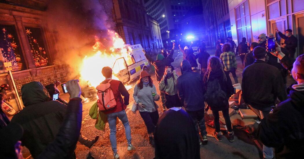 U.K. Police Bill Protesters Turn Violent at Bristol Rally