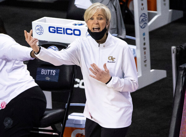 Georgia Tech Coach Nell Fortner won Tuesday after complaining about disparities between men's and women's college basketball.