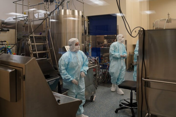 An Emergent BioSolutions lab in Baltimore.