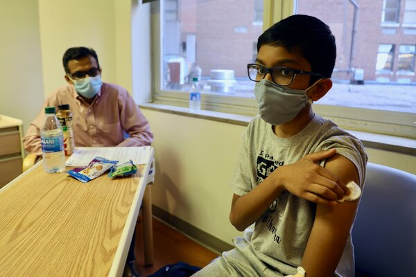 Taking part in the Pfizer vaccine trial at Cincinnati Children's Hospital.