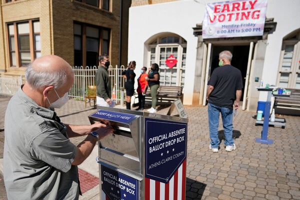 Shortly before Election Day last November, a voter called Athens, Ga.  Placed a ballot in a drop box.