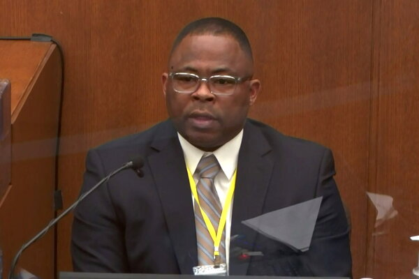 Sergeant Jody Stiger of the Los Angeles Police Department testifying on Tuesday.