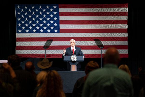 Vice President Mike Pence spoke on Jan. 4 at a church in Milner, Ga.