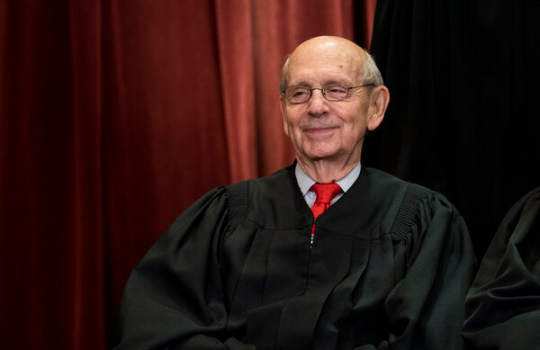 Justice Stephen G. Breyer said it was a mistake to view the Supreme Court as a political institution.