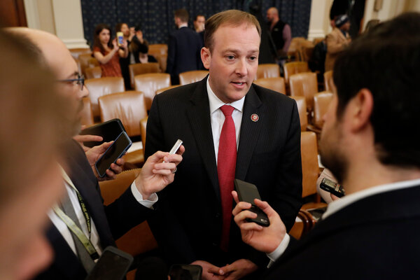Representative Lee Zeldin during a meeting of the House Intelligence Committee in 2019. Mr. Zeldin announced on Thursday that he will run for governor of New York.