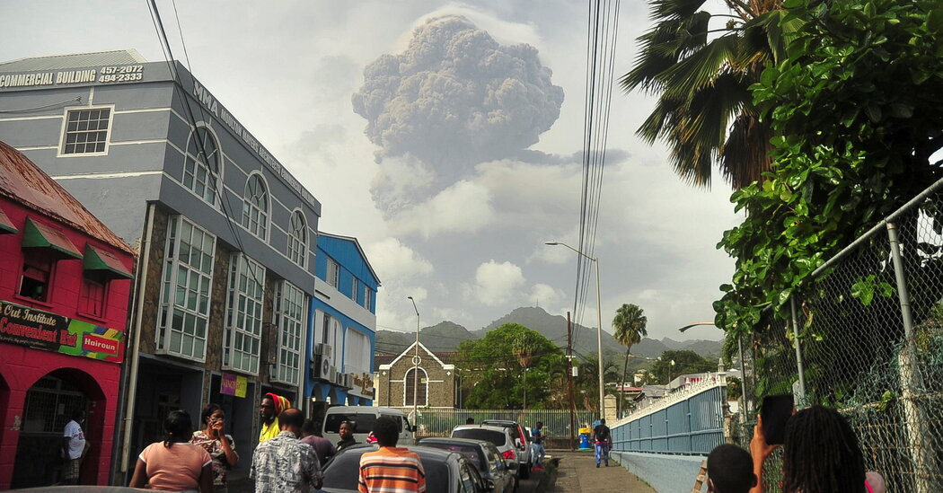 Volcano Erupts on Island of St. Vincent and the Grenadines