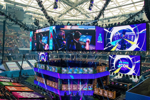 The 2019 Fortnite World Cup tournament at Arthur Ashe Stadium in New York. The game's developer, Epic Games, announced a fund-raising round that valued the company at .7 billion.