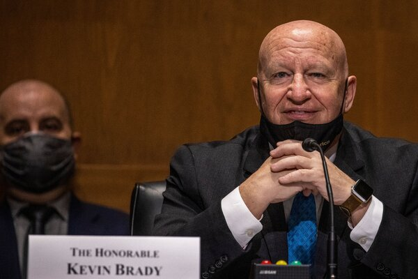 Representative Kevin Brady first won his seat in Texas' Eighth Congressional district in 1996.