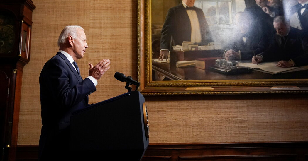 Biden, Setting Afghanistan Withdrawal, Says 'It Is Time to End the Forever War'