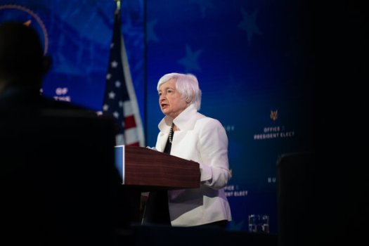 """""""Treasury is working tirelessly to address efforts by foreign economies to artificially manipulate their currency values that put American workers at an unfair disadvantage,"""" Treasury Secretary Janet Yellen said in a statement."""