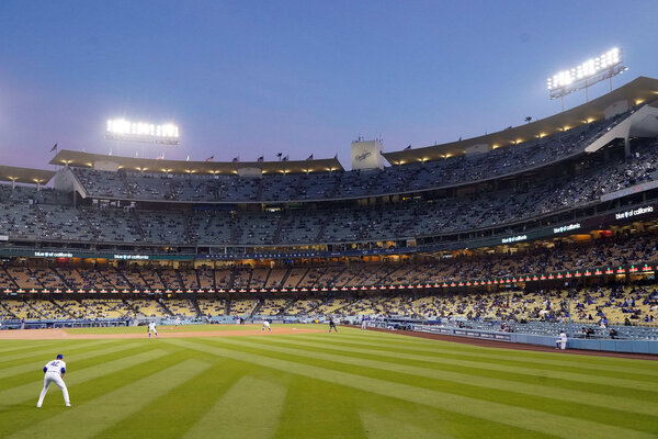Jackie Robinson Day at Dodger Stadium earlier this month.