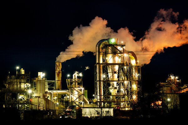A wood pellet plant that operates 24 hours a day in Ahoskie, N.C. A new report finds thatChina dominates market share across clean technology sectors.