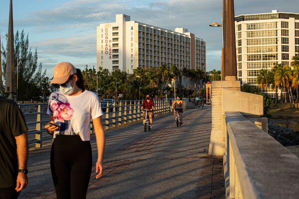 The heavily touristed area of Condado in San Juan, the Puerto Rican capital, on Wednesday.