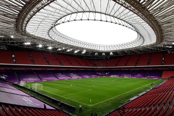 The San Mamés stadium in Bilbao last August.