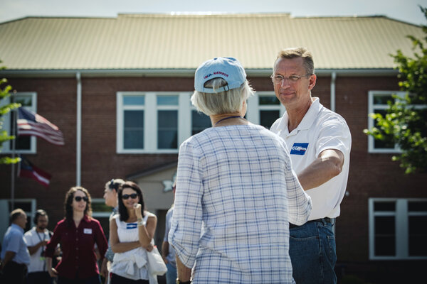 Former President Donald J. Trump had hinted at the idea of backing former Representative Doug Collins for statewide office next year.<br>